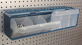 Portable PegBoard Multi Bin Parts Organizer