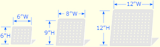 Freestanding PegBoard™ Sizes Graphic
