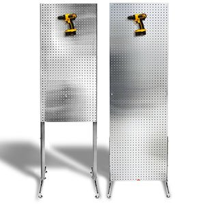 PegBoard Freestanding featured in both 2x6 and 2x4 Sizes