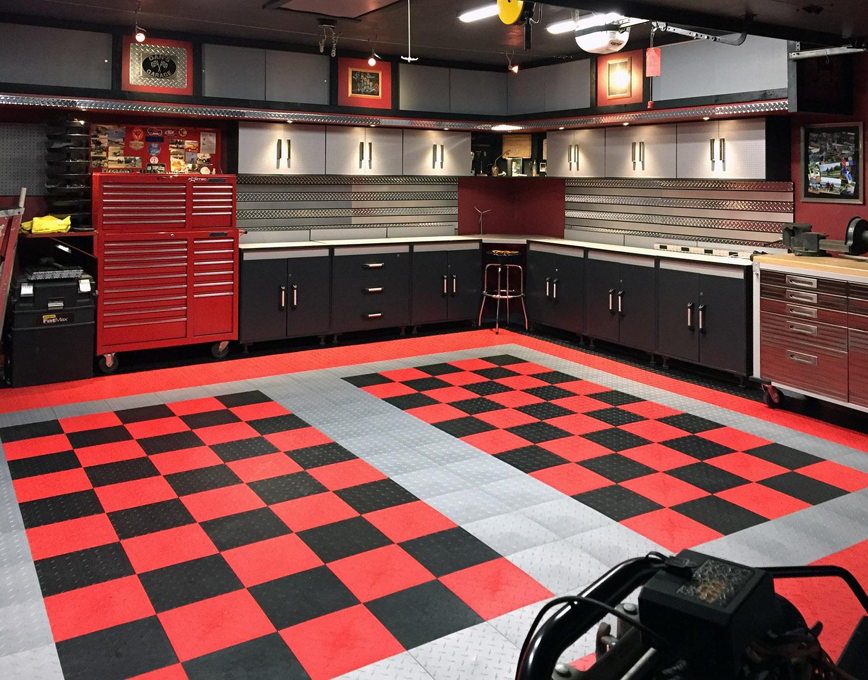Snap floor tiles