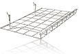 Wire Grid Pegboard Shelf, with Lip