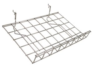 Wire Grid Shelf, Slanted with Lip