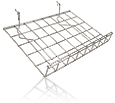 Wire Grid Pegboard Shelf, Slanted with Lip