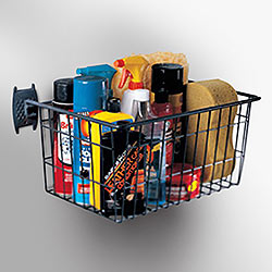 Skate Rack and Basket