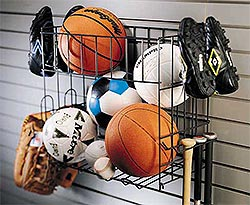 Sports Rack and Baskets