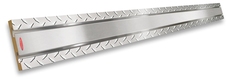 Diamond Plate & Brushed Aluminum SlatWall MX™ Strip