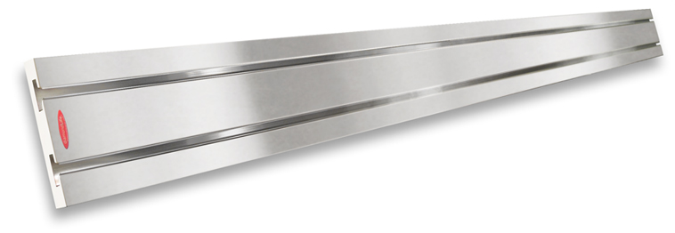 Brushed Aluminum SlatWall MX™ Strip With White Edge