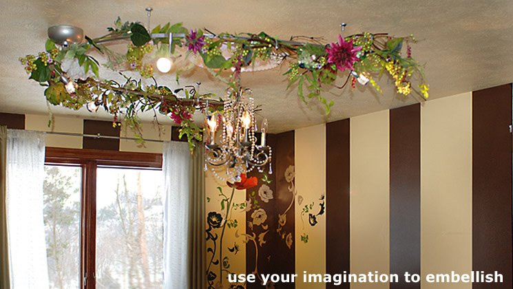 use your imagination to embellish