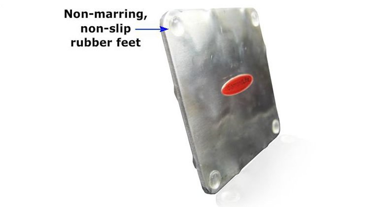 Non-marring, non-slip rubber feet