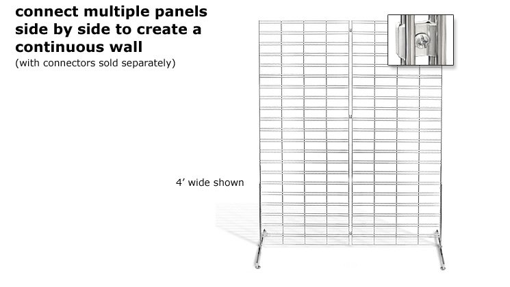 Connect Multiple Panels Side By Side to Create a Continuous Wall (with connectors sold separately)