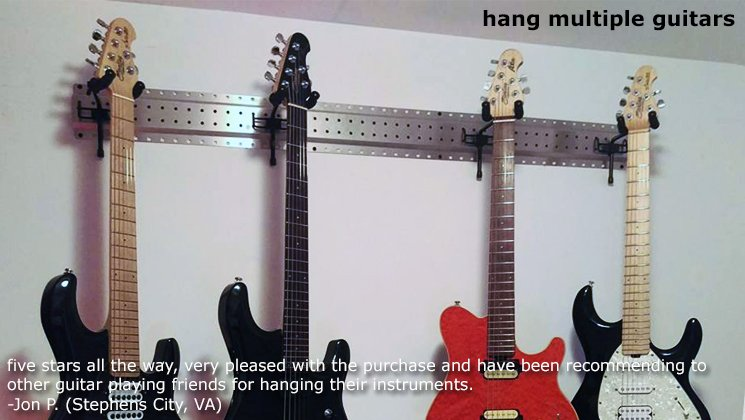 Guitar Hanger Guitar Mount For Pegboard And Peg Strip