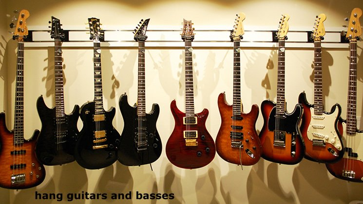 hang Guitars and Basses