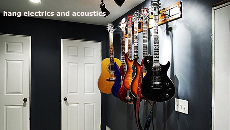 Hang Electriv and Acoustic Guitars