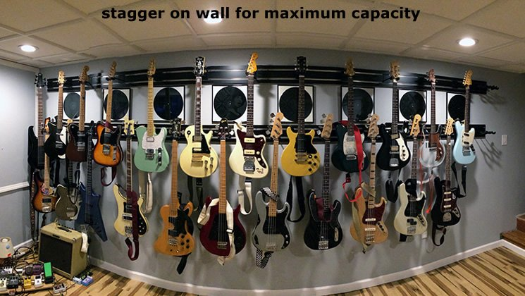 Stagger on Wall for Maximum Capacity
