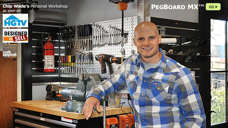 Metal PegBoard MX featured in Chip Wade's personal workshop