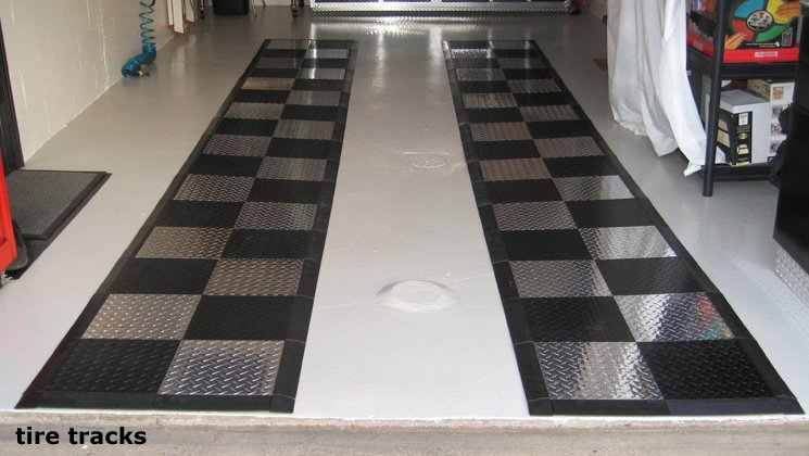 Diamond plate floor tiles