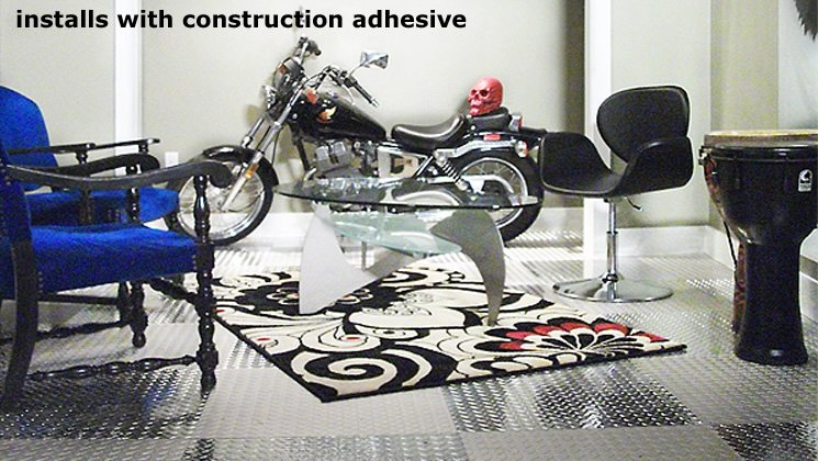 Installs with Construction Adhesive