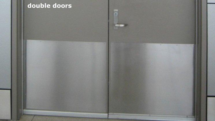 Metal Kickplate for Doors & Door Kick Plate in Diamond Plate Stainless Steel and Brushed Aluminum pezcame.com
