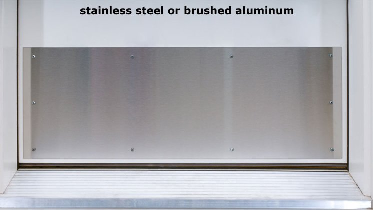 Stainless Steel or Brushed Aluminum