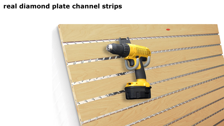 Real Diamond plate Channel Strips