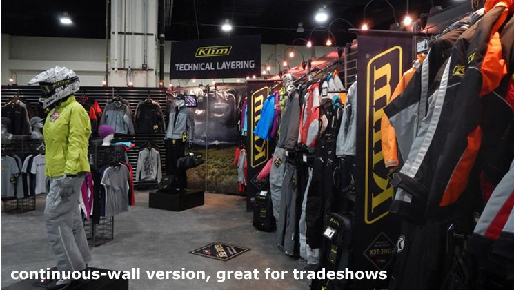 Continuous-Wall Version, great For Tradeshows
